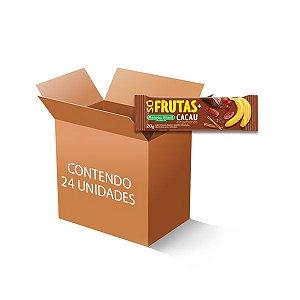 Barra Só Frutas + Cacau Zero Açúcar, Zero Glúten, 100% Natural Banana Brasil contendo 24 unidades