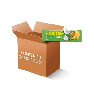 Barra Só Frutas + Coco Zero Açúcar, Zero Glúten, 100% Natural Banana Brasil contendo 24 unidades