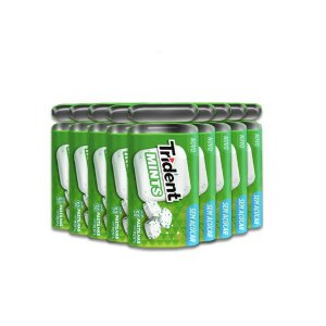 Pastilha Trident Mints Latinha Menta contendo 9 embalagens de 22,5g cada