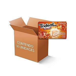 Trident Xfresh Box Tangerina contendo 16 caixas de 18g cada