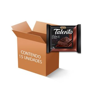 Chocolate Talento Nibs de Cacau Dark 70% contendo 15 tabletes de 75g cada