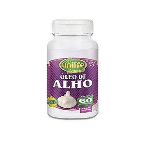 Óleo de Alho Unilife contendo 60 cápsulas