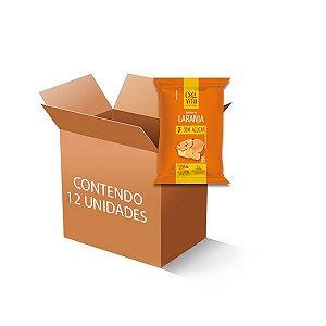 Bolinho Zero Glúten, Zero Açúcar Laranja Celivita contendo 12 unidades de 35g cada