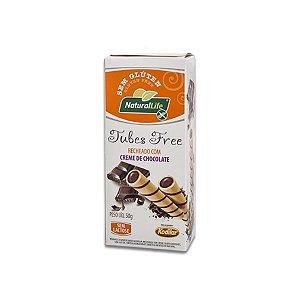 Tubes Free Nut´s recheado com Creme de Chocolate Sem Glúten e Lactose Natural Life Kodilar 50g
