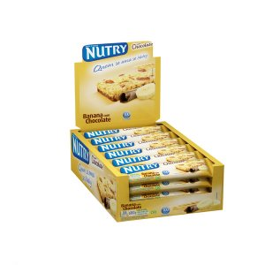 BARRA DE CEREAIS NUTRY BANANA C/ CHOCOLATE C/24