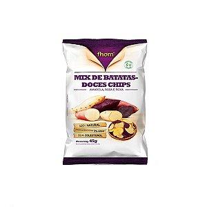 Mix De Batatas-doces Chips Fhom 45g