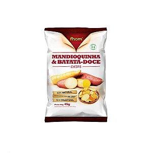 MANDIOQUINHA E BATATA-DOCE CHIPS FHOM 45g