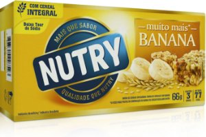 BARRA DE CEREAIS NUTRY BANANA C/3