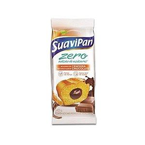 Bolinho Zero Açúcar Cenoura Recheado Com Chocolate Suavipan 40g