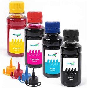 Kit 4 Tintas para HP Universal 100ml Inova Ink