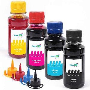 Kit 4 Tintas Inova Ink Compatível L375 100ml