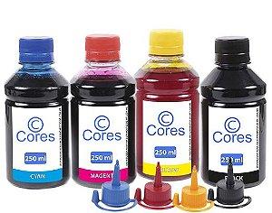 Kit 4 Tintas para Epson EcoTank L495 CMYK 250ml Cores