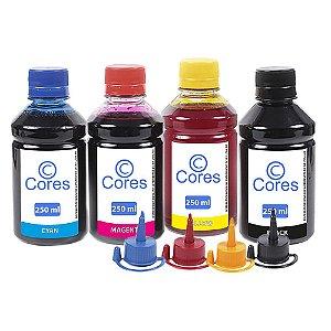 Kit 4 Tintas para Epson EcoTank L120 250ml Cores