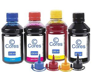 Kit 4 Tintas para Epson EcoTank L455 250ml Cores