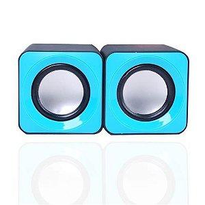 Caixa acústica 2.0, USB, P3, Beotes F0