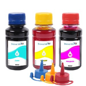 Kit 3 Tintas Inova Ink Compatível L395 100ml