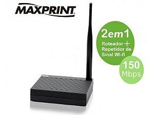 Roteador Wireless 150mps Maxlink 150af 1 Antena 5dbi Fixa