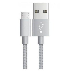 Cabo USB Metal Gear Android Branco Maxprint 1 Metro