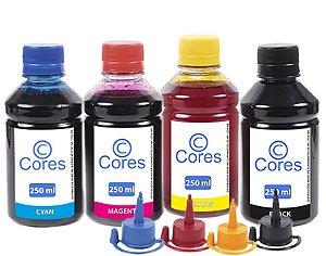 Kit 4 Tinta Para Epson EcoTank L120 L200 L210 L220 L355 L365 L375 L380 L395 Pigmentada 1000ml Cores