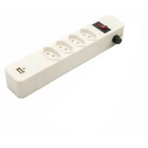 Filtro de linha Maxprint 4 tomadas + USB - Branco