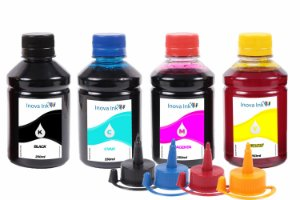 Kit 4 Tintas para Canon Mega Tank G1100 250ml Inova Ink