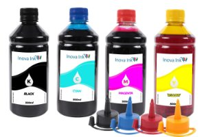 Kit 4 Tintas para Canon Mega Tank G1100 500ml Inova Ink