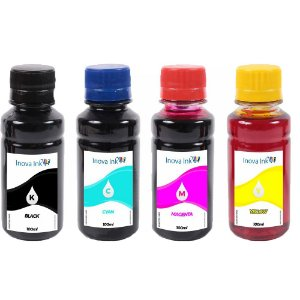 Kit 4 tintas Recarga Cartuchos Hp 100ml 662 122 901 74 60 664 61 75 21 27 56 57 22 28 74 Inova Ink