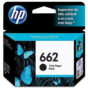 Cartucho HP 662 preto Original (CZ103AB) Para HP DeskJet 2516, 3516, 3546, 2546, 1516, 4646, 2646 CX 1 UN