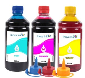 Kit 3 Tintas para Canon Maxx Tinta - G1100 500ml Inova Ink