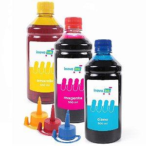 Kit 3 Tintas para Epson EcoTank L395 500ml Inova Ink
