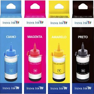 Kit 4 Tintas Para Epson Ecotank L3110 100ml Inova Ink