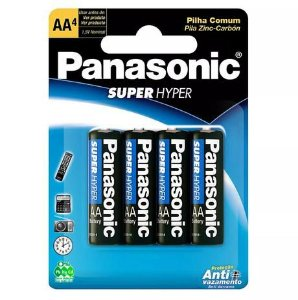 Pilha Panasonic AA Super Hyper 4 un