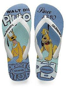 Chinelo Havaianas Disney Stylish Ice Blue Pluto 37/38