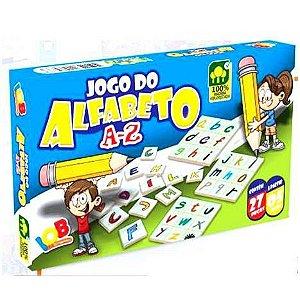 Brinquedo Educativo Jogo Pedagógico IOB Madeira - Jogo do Alfabeto - A a Z