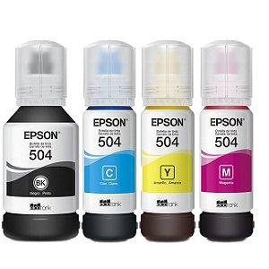 Kit Tinta Original Epson L6161 L4150 L4160 L6191 L6171 T504