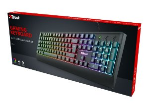 Teclado Gamer Ziva Gaming Rainbow LED Keyboard Trust