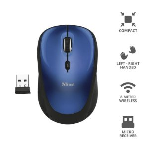 Mouse Yvi Wireless Mouse - blue Trust