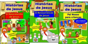 Kit DVDs HISTÓRIAS DE JESUS