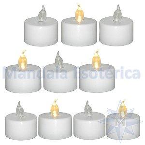 """Velas de LED """"P"""" com 10 Unidades"""