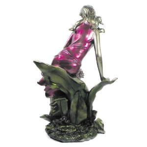 Estatua em Resina Dama com Flores