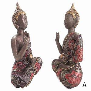 Buda da Medicina em Marrom com a Suni Mudra