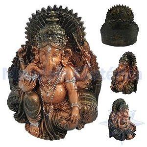Ganesha da Prosperidade Esmaltado