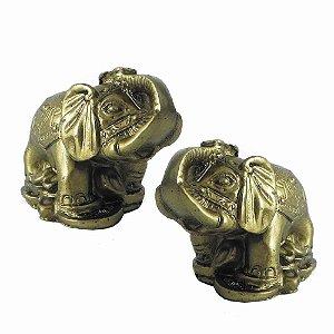 Elefantes Dourados caixa com 2