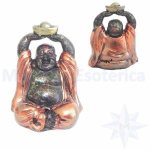 Buda Sorridente Fortuna Ouro Velho
