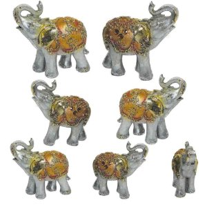 Conjunto 7 elefantes