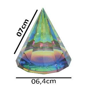 Pirmâmide de vidro Colorida G