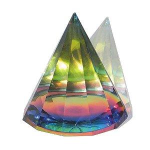 Pirâmide de Vidro Colorida G