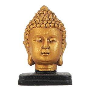 Cabeça Buda com Base Madeira