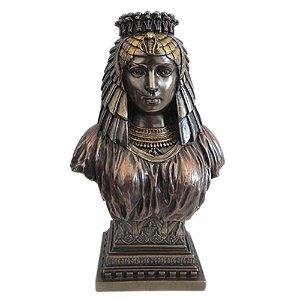 Deusa Ísis Busto Na Cor Bronze