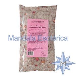 Banho de Rosas com Sal Grosso